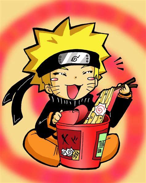 chibi naruto eating ramen  hikari    deviantart