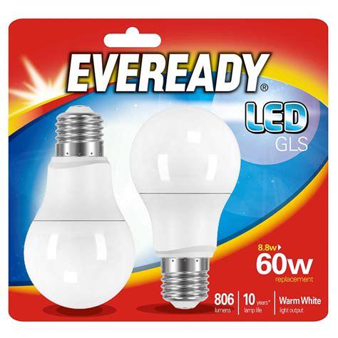 eveready led gls bulbs e27 60w 2pk diy bulbs lighting