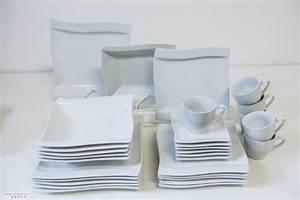 Geschirr Eckig Weiß : tafelservice wei eckig cannes 18 personen geschirr porzellan speiseservice 90 teile tinas ~ Whattoseeinmadrid.com Haus und Dekorationen