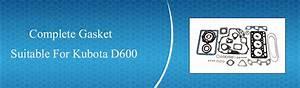 Kubota New Complete Gasket Kit For The Kubota D600