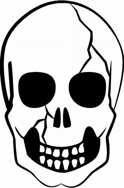 Skull Halloween Scary Decals Silhouette Screen