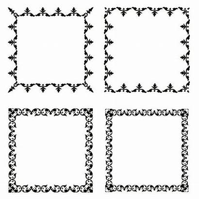 Square Frame Vector Frames Borders Border Graphicriver