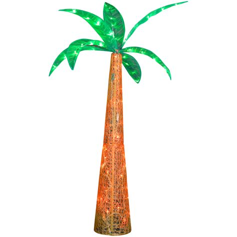 shop gemmy metal palm tree led light at lowes com