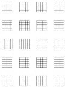 Blank Guitar Chord Chart Grid