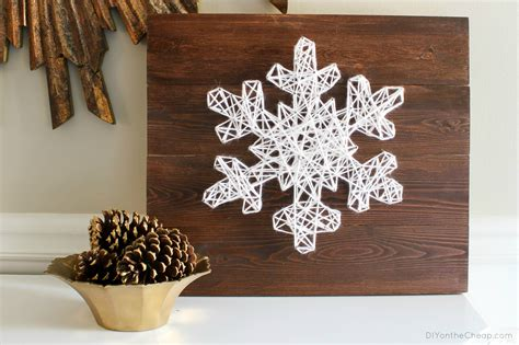 diy snowflake string art  easy  build christmas