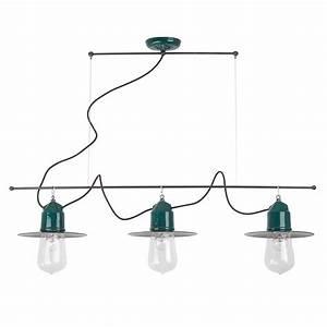 Lampe Style Industriel : suspension ampoule multiple solitario de style industriel ~ Teatrodelosmanantiales.com Idées de Décoration