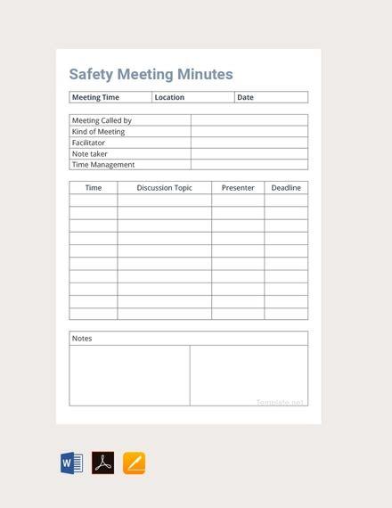 meeting minutes templates  word google docs