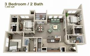 apartments in mount pleasant tx cypress creek floorplans With three bedroom apartment planning idea