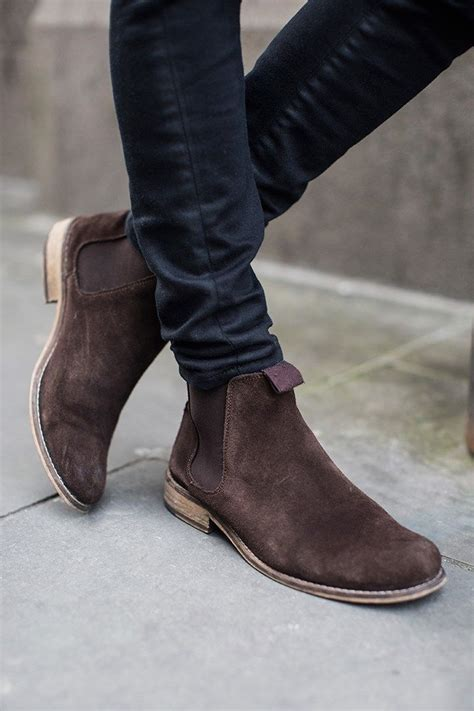 Suede Chelsea Boots Skinny Pants Californication