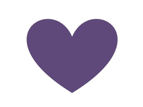 Purple Clipart Purple Hearts Clip Www Imgkid The Image Kid