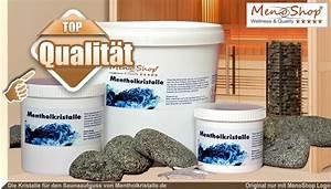 Saunaaufguss Wieviel Wasser : mentholkristalle f r saunaaufguss in der sauna ~ Whattoseeinmadrid.com Haus und Dekorationen