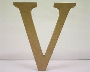 wooden letter v needlecraft With wooden letter v