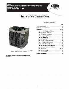 Carrier 25hba 1si Heat Air Conditioner Manual