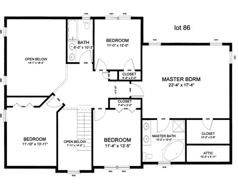 center colonial floor plan image gallery house layout