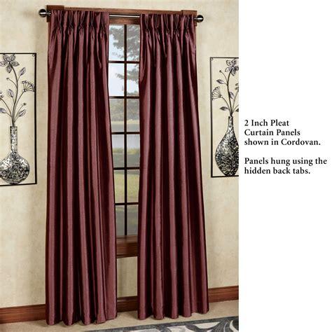 marquee faux silk pinch pleat drapery marquee flared faux silk pinch pleat curtain panel