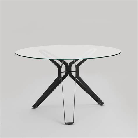 Lema 3 Pod Round Glass Dining Table   Rogerseller