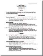 reverse chronological resume samples job placement