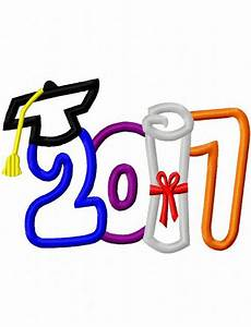 2017 Graduation Hat and diploma Appliqué Embroidery design ...