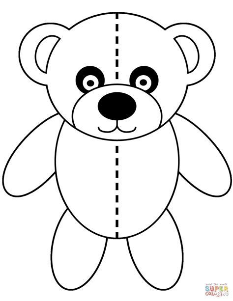 Pudsey Bear Free Colouring Pages