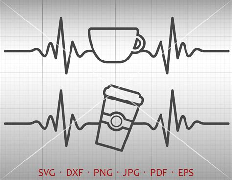Browse this featured selection from the web for use in websites, blogs, social media and your other products. Heartbeat Coffee SVG EKG Coffee Clipart Silhouette Cricut Cut | Etsy