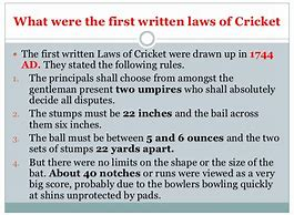 Cricket Game Rules And Regulations Pdf
