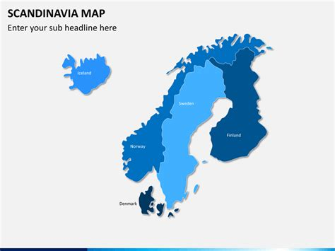 scandinavianordic countries map powerpoint sketchbubble