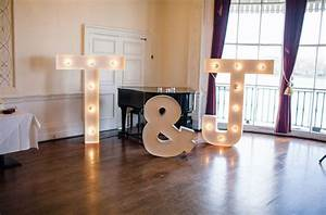 elegant london wedding tamara jonno green wedding With giant marquee letters