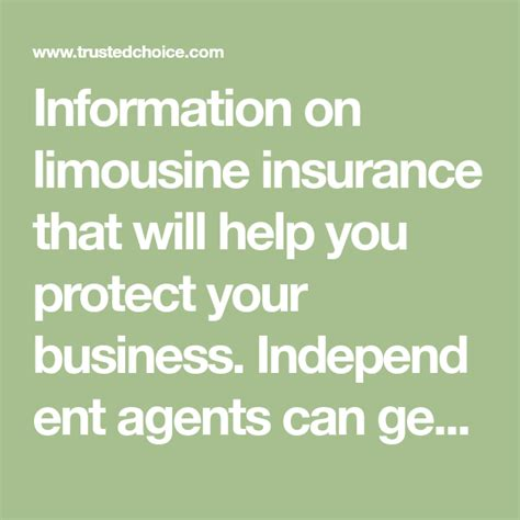 Get a free car insurance quote and discover amica's coverage and discount options. Affordable Limo Insurance Quotes For Your Business   Insurance quotes, Commercial vehicle ...