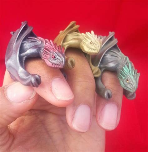 Game Of Thrones Dragon Rings And Eggs Set