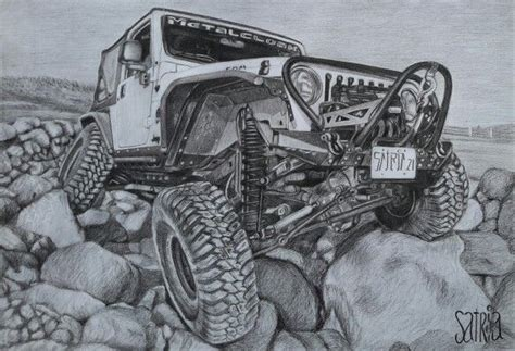 jeep cartoon offroad jeep drawing pencil pencil on paper artis by satria putra