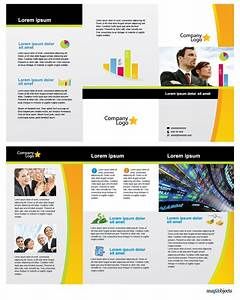 Web Brochure Templates Free Business Vector Brochure Template In Illustrator