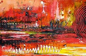 Erotische Kunst Bilder : burgstaller original gem lde bilder kunst malerei rot gelb unikat abstrakt walze ebay ~ Sanjose-hotels-ca.com Haus und Dekorationen