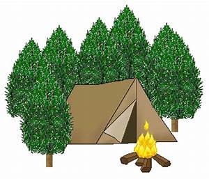 Camping In The Woods Clipart - Clipart Suggest