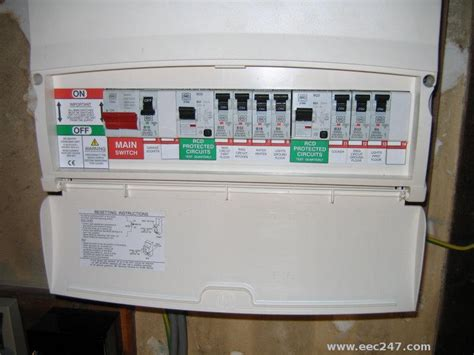 eec247 consumer units and fuseboxes installed to the iee wiring regulations