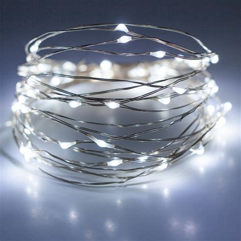white wire lights battery operated lights 30 cool white battery operated