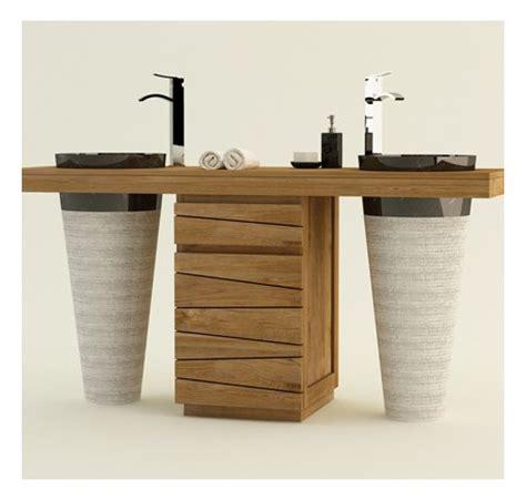 buffet rangement cuisine meuble salle de bain en teck vasque timare