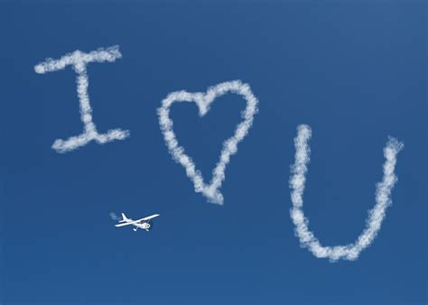 I Love You Skywriting Free Stock Photo - Public Domain ...