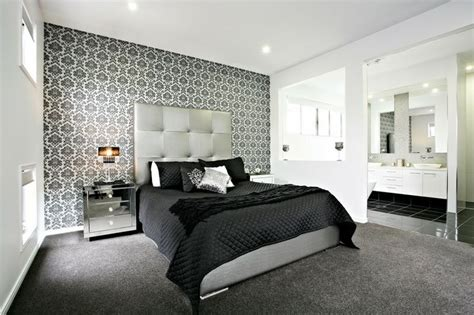 Bedroom Feature Walls by Bedroom Wonderful Black And White Bedroom Decoration With