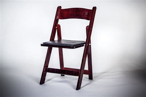 chair wood folding mahogany am rentals