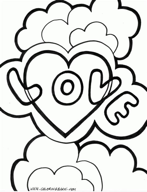 love coloring pages    print