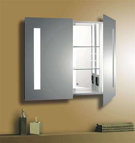Brushed Nickel Medicine Cabinet With Lights by Interior Led Bathroom Vanity Light Fixture Deco
