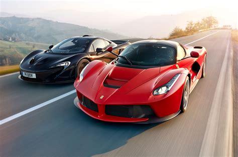 Amazing Side-by-side Ferrari Laferrari And Mclaren P1 High
