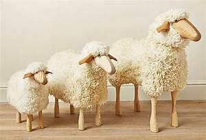 Wooden Sheep Stool - Mary KilvertMary Kilvert