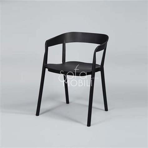 lot de 4 chaises noires chaise pu pas cher