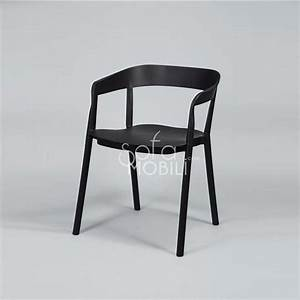 Chaise Noire Design : chaise noire pu pas cher ~ Teatrodelosmanantiales.com Idées de Décoration