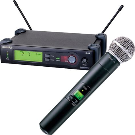 shure slx24 handheld wireless microphone sm58 g5 pssl