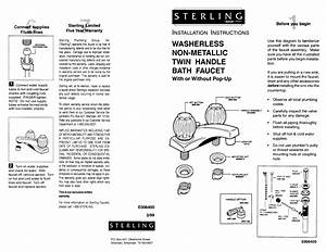 Sterling E006400 Installation Instructions Faucet  Fi06372