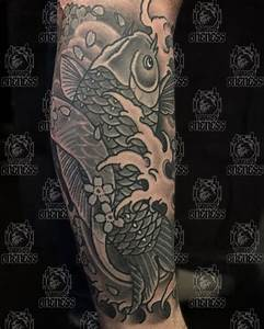 Koi in black and grey | Tattoo by Vincent Penning | Darko ...