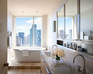 soft colored new york apartment central park home With bathrooms central park