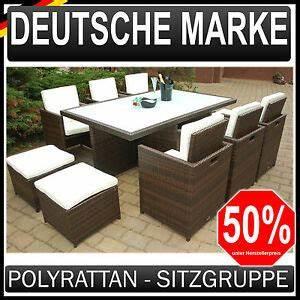 Polyrattan Sitzgruppe Braun : polyrattan gartenm bel 6 4 garten garnitur sitzgruppe ~ Watch28wear.com Haus und Dekorationen